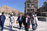 بازدید هیئت اردنی از شرکت سیمان سفید استهبان
